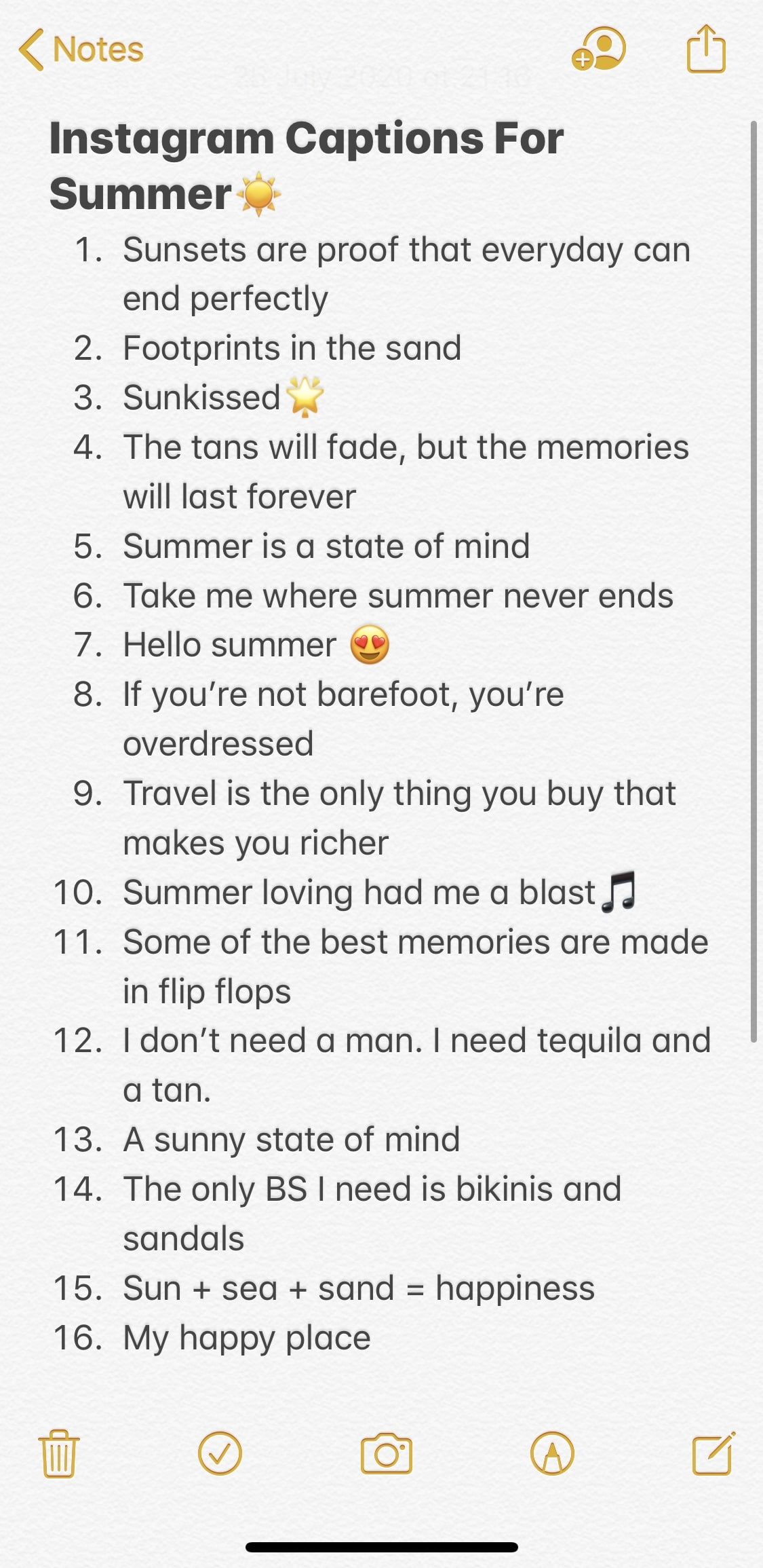 instagram caption ideas for summer