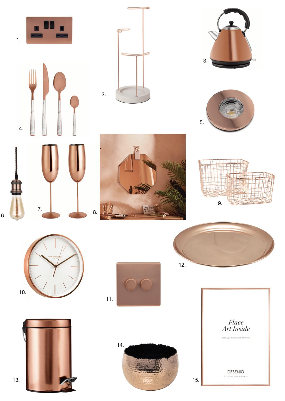 copper home decor ideas
