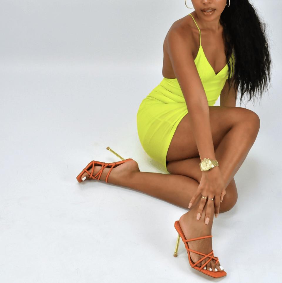 orange heel