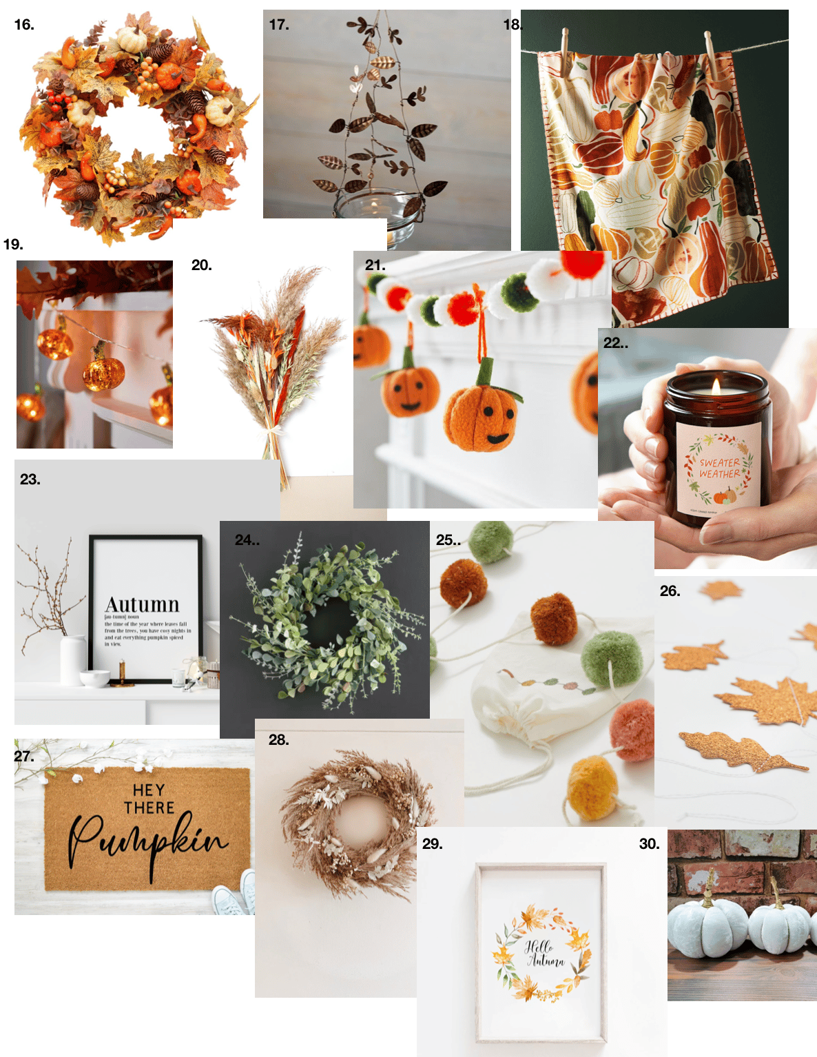 autumn decorations for the home